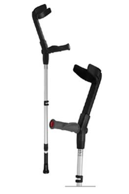 elbow crutch with ergonomic handle