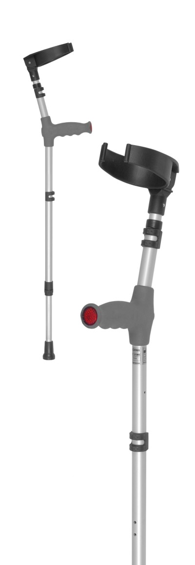 elbow crutch with double height adjustmnet