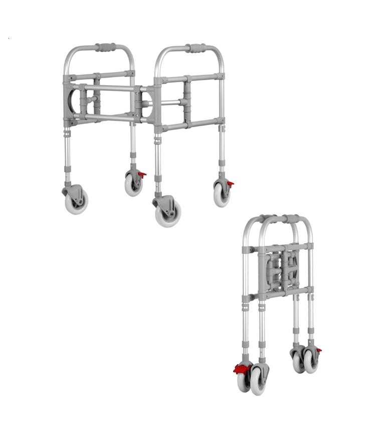 Movable walker with 4 wheels ( with 2 brakes)