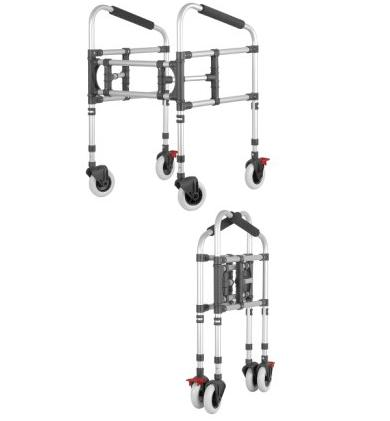 Movable walker for getting up with 4 wheels