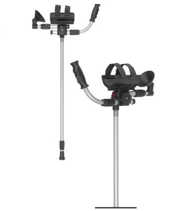 Crutches with support of the forearm